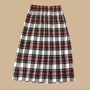 VTG Made in USA Susan Bristol plaid pleated skirt